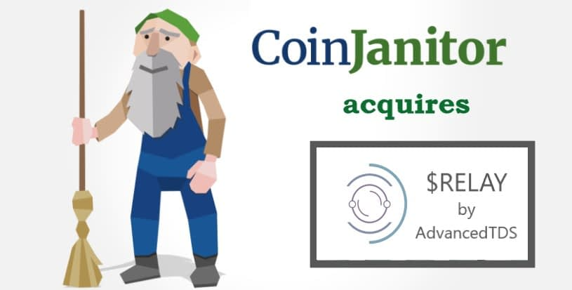 RELAY waves token aqcuired by CoinJanitor